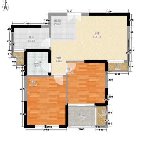恬静园2室0厅1卫1厨110.00㎡户型图