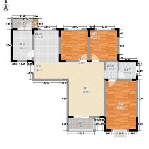 正馨佳居3室0厅1卫1厨129.00㎡户型图