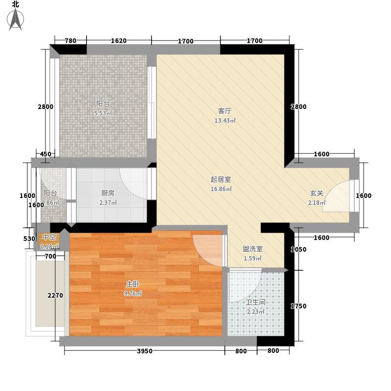 华宇龙湾38.54㎡二期高层31号楼标准层3/8号房户型