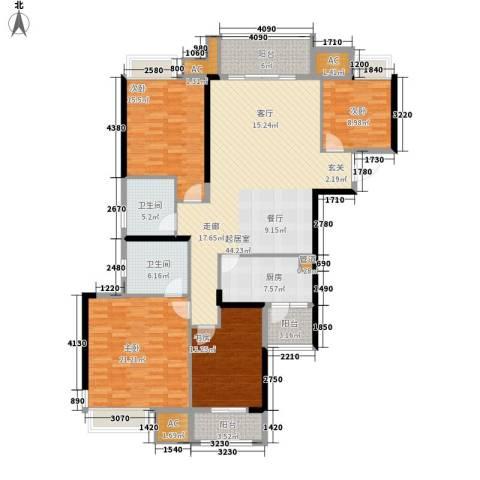 巴黎香榭4室0厅2卫1厨150.00㎡户型图