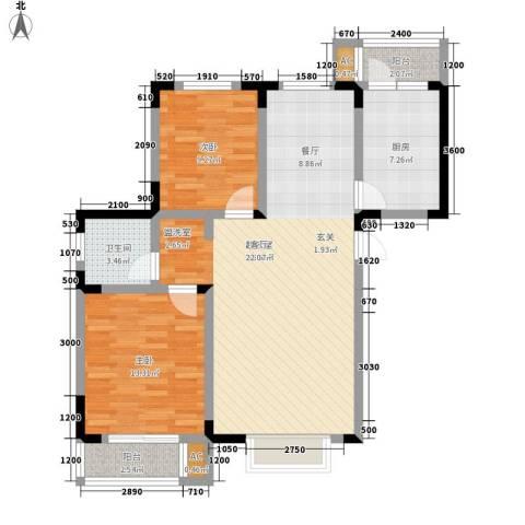 正馨佳居2室0厅1卫1厨98.00㎡户型图