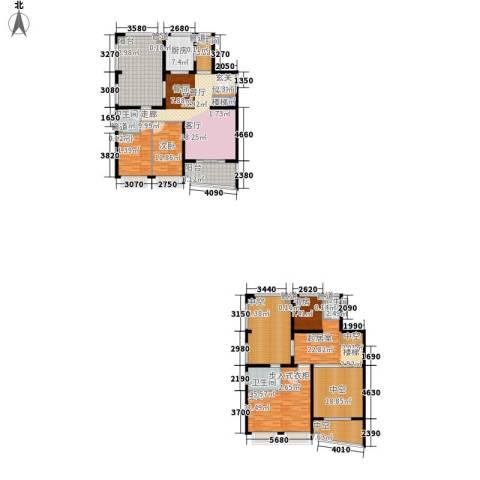 中海胥江府3室1厅4卫1厨246.00㎡户型图