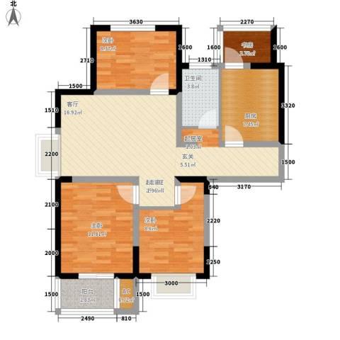 正馨佳居4室0厅1卫1厨109.00㎡户型图