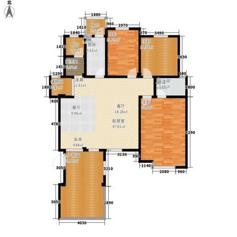洪城比华利3室0厅1卫1厨183.00㎡户型图