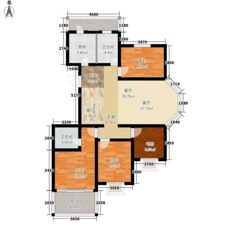 21码头4室1厅2卫1厨142.00㎡户型图