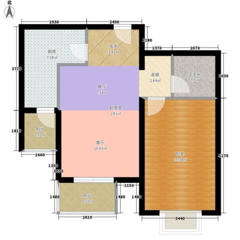 宝龙湾家园1卫1厨67.00㎡户型图
