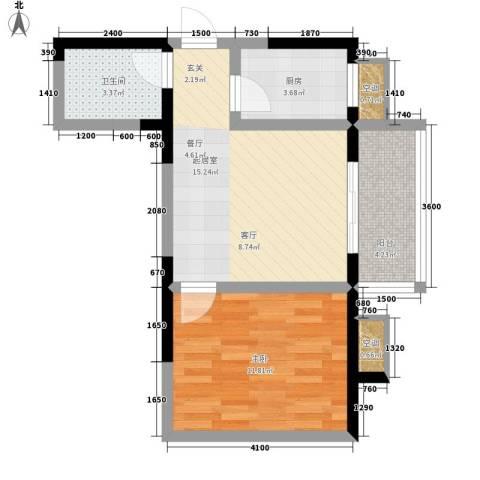丽苑1681室0厅1卫1厨59.00㎡户型图