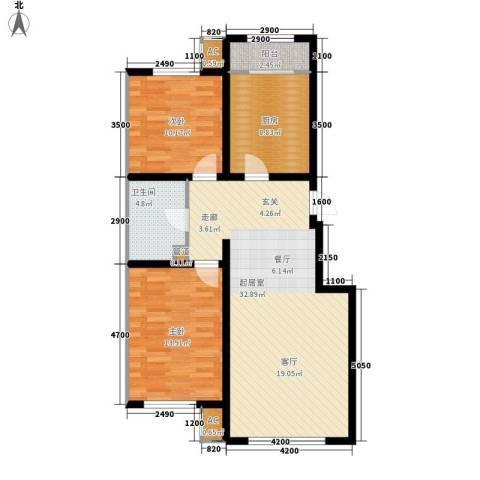 红赫世家2室0厅1卫1厨105.00㎡户型图