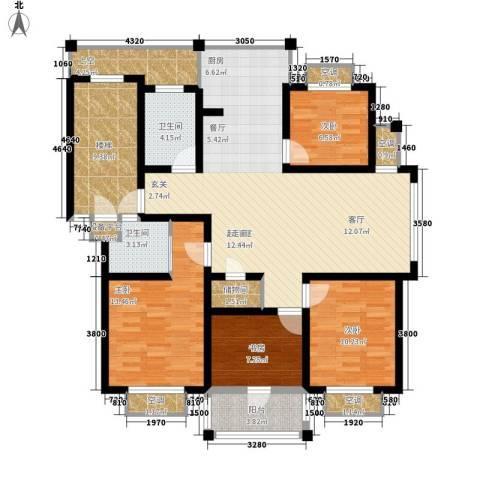 盛泰丹桂苑4室0厅2卫0厨127.00㎡户型图
