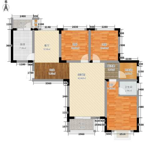 正馨佳居3室0厅2卫1厨129.00㎡户型图