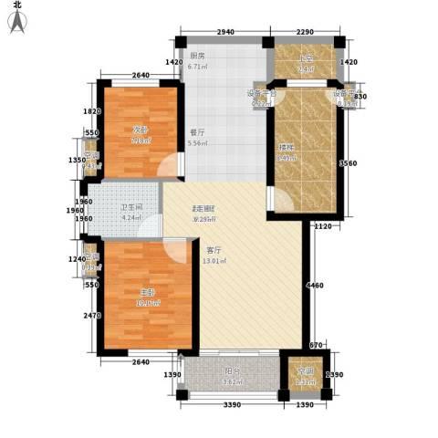 盛泰丹桂苑2室0厅1卫0厨84.00㎡户型图