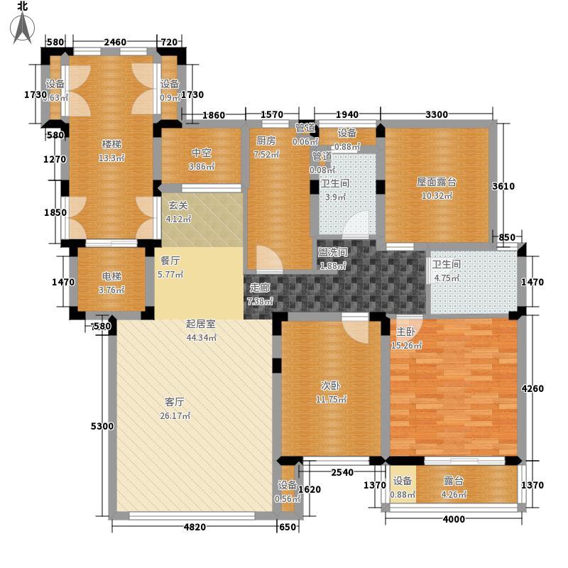 天山城113.46㎡二期洋房标准层户型