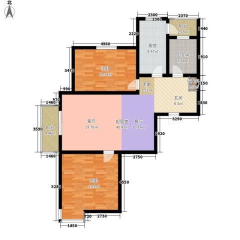宝龙湾家园2室0厅1卫1厨117.00㎡户型图