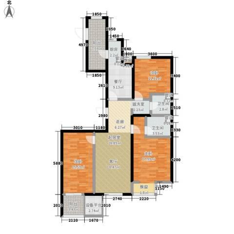 弘泽鉴筑3室1厅2卫0厨122.00㎡户型图