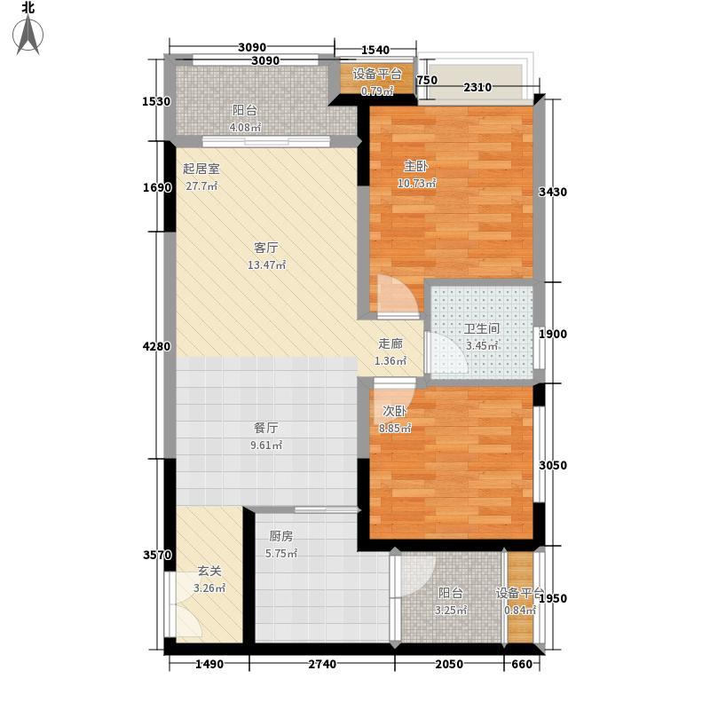 华润二十四城二期19、20、21号楼D2'户型2室2厅