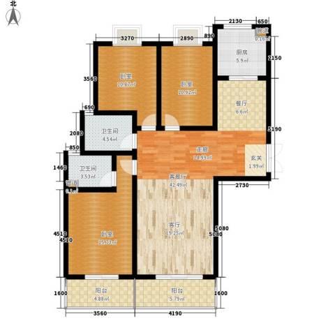 金源皇家园林1厅2卫1厨149.00㎡户型图