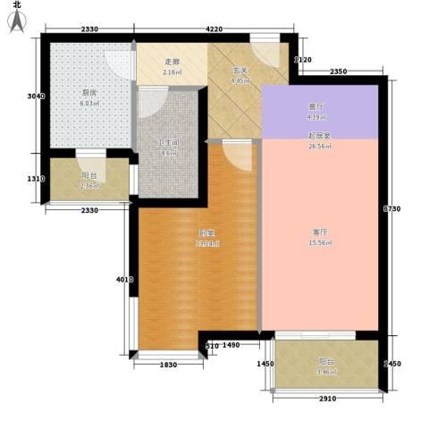 宝龙湾家园1卫1厨69.00㎡户型图