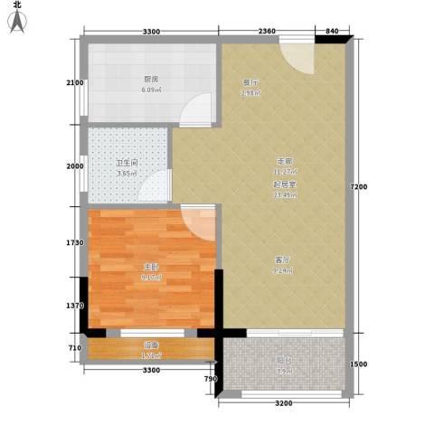 博雅公寓1室0厅1卫1厨67.00㎡户型图