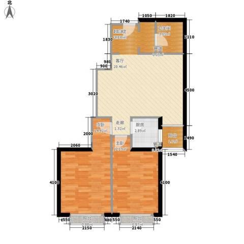 金桥国际公寓2室0厅1卫1厨85.00㎡户型图