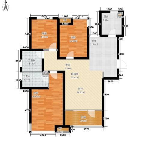 远见3室0厅2卫1厨131.00㎡户型图