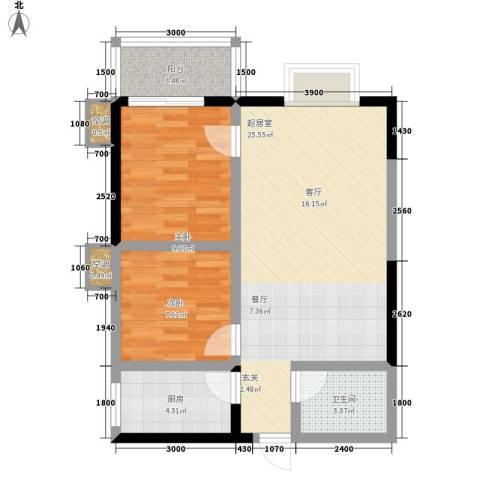 丽苑1682室0厅1卫1厨80.00㎡户型图