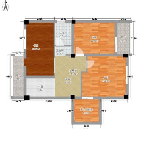 杨家山武警宿舍3室0厅1卫0厨97.00㎡户型图