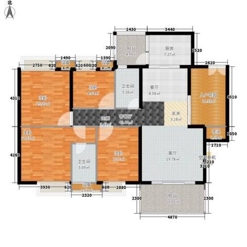 康乐园4室1厅2卫1厨160.00㎡户型图