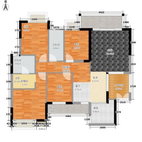 集贤苑4室1厅2卫1厨143.00㎡户型图
