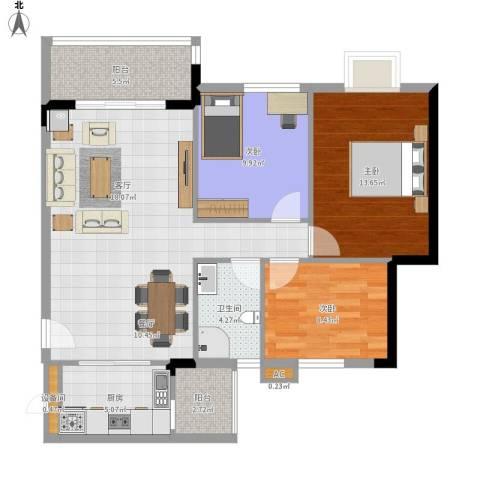 广州新塘新世界花园3室1厅1卫1厨111.00㎡户型图