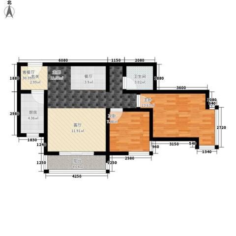 含光佳苑2室1厅1卫1厨151.00㎡户型图