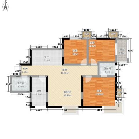 丽苑1683室0厅2卫1厨129.00㎡户型图