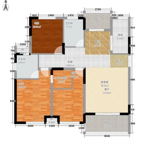 升华公园懿品3室0厅2卫1厨152.00㎡户型图