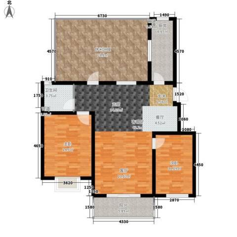 香木林2室1厅1卫1厨111.38㎡户型图