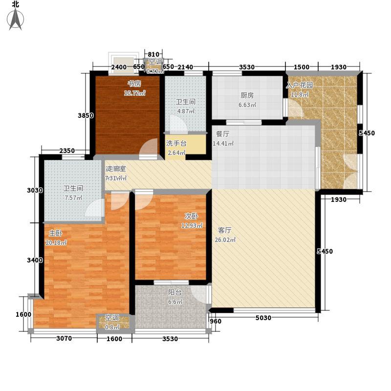 绿地世纪城149.06㎡A区9号楼A面积14906m户型