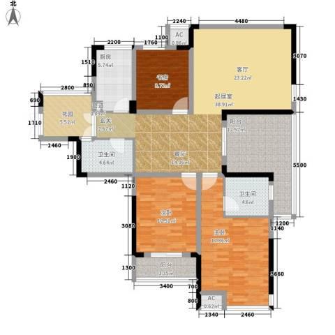 升华公园懿品3室0厅2卫1厨167.00㎡户型图