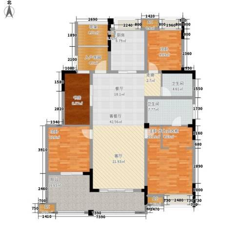 金科廊桥水岸4室1厅2卫1厨160.00㎡户型图
