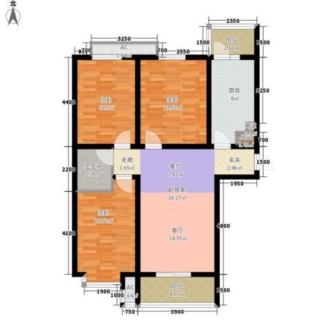 盛世家园3室0厅1卫1厨110.00㎡户型图