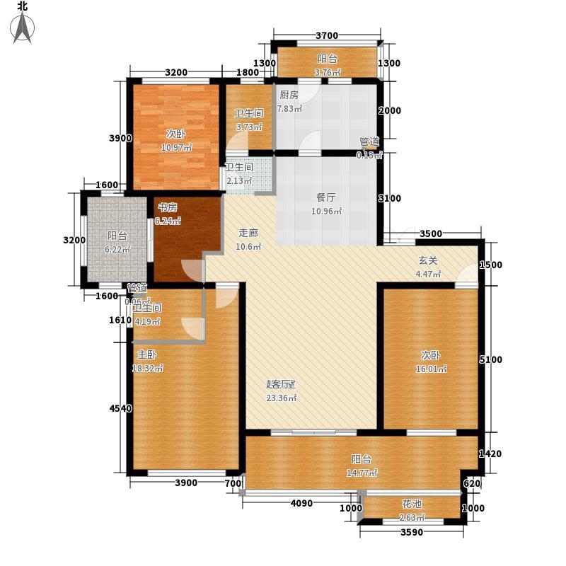 东盟森林176.00㎡住宅B/G户型4室2厅