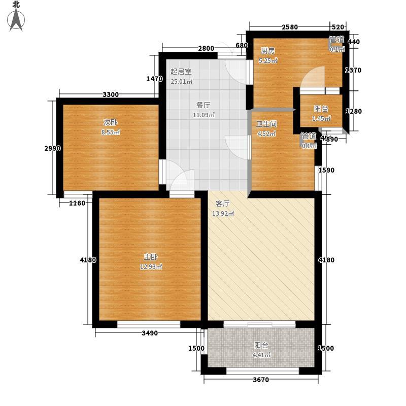 东盟森林84.00㎡住宅A2户型2室2厅