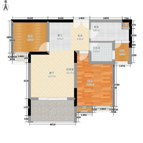 欧鹏K城2室0厅1卫1厨87.00㎡户型图