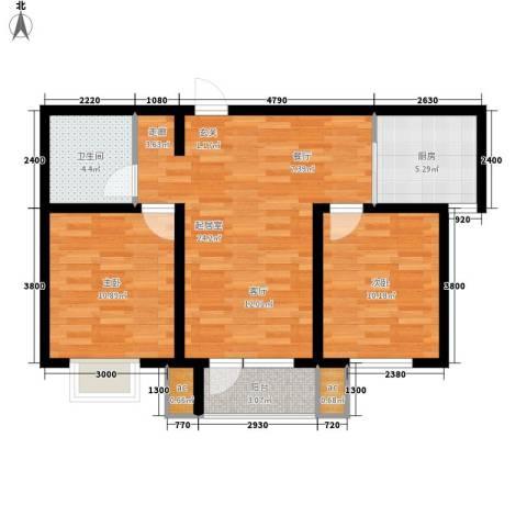 京港国际城2室0厅1卫1厨98.00㎡户型图