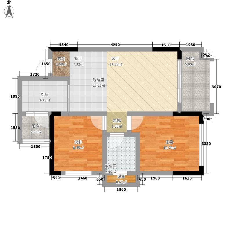 金科廊桥水乡高层项目B1户型2室2厅