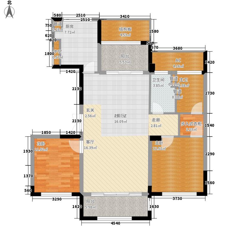 太湖锦园115.00㎡宽景公寓A1户型3室2厅