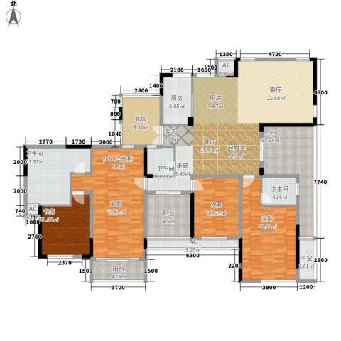 升华公园懿品4室0厅3卫1厨283.00㎡户型图