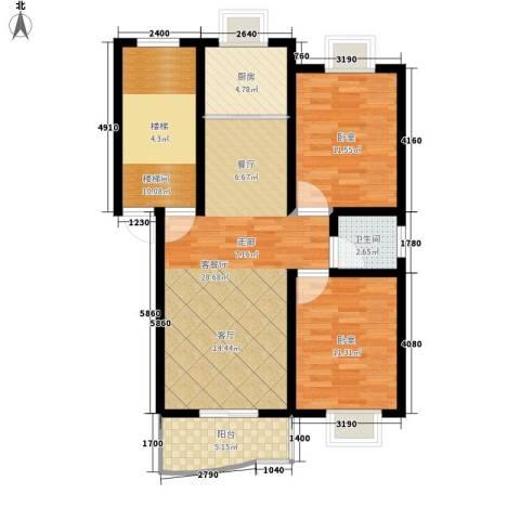 三兴园1厅1卫1厨85.00㎡户型图