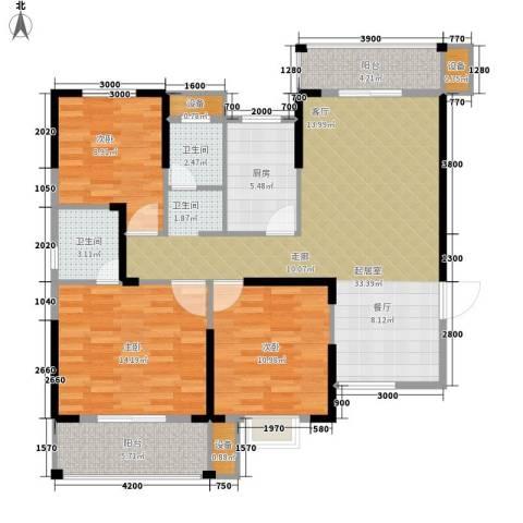 长城南雅名居3室0厅2卫1厨115.00㎡户型图