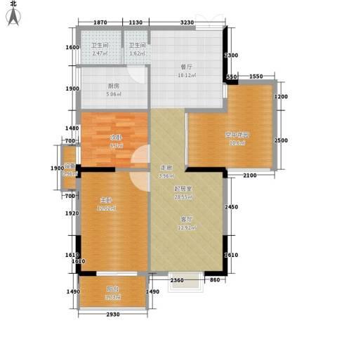 鑫远逸园2室0厅1卫1厨81.00㎡户型图
