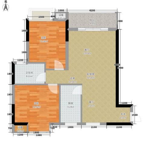 景江雅苑2室0厅1卫1厨98.00㎡户型图