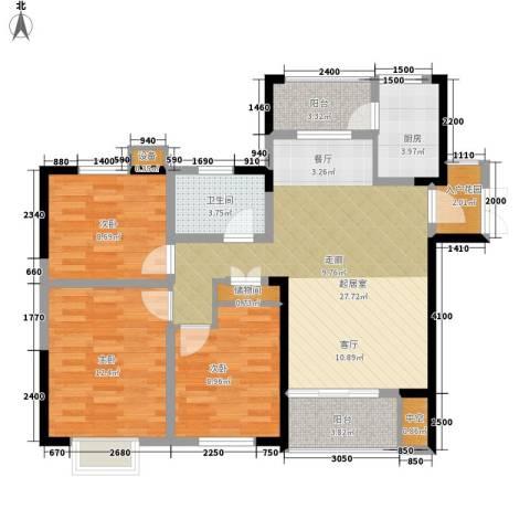 天天向上3室0厅1卫1厨101.00㎡户型图