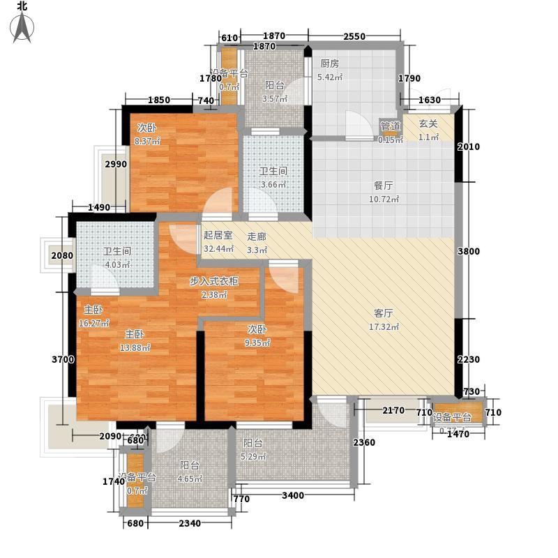 华润二十四城二期16、17号楼B1户型3室2厅